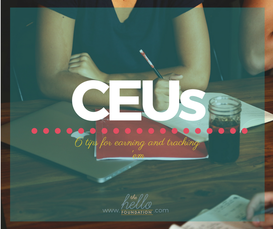 Tips for Earning and Tracking CEUs